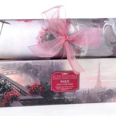 Paris theme scented drawer liner
