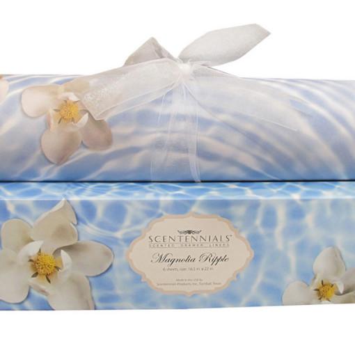 Magnolia scented drawer liner